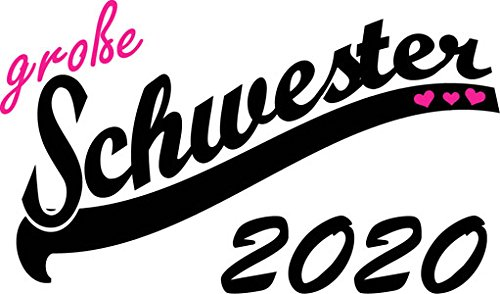 Mister Merchandise Herren Men V-Ausschnitt T-Shirt Große Schwester 2020 Tee Shirt Neck bedruckt Navy