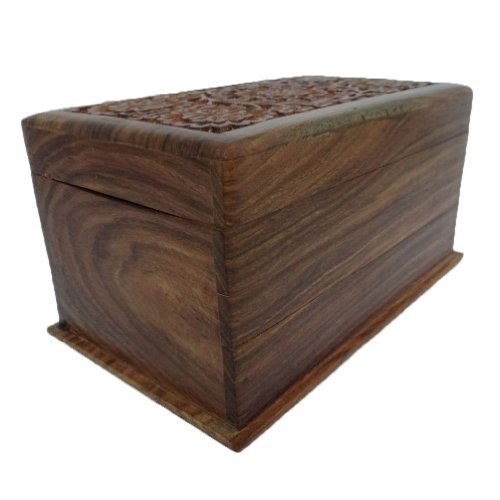Antike Handgefertigte Holzkiste Vintage Style Kleines Schmuck Lagerung Trunk (Lagerung Antiken Schmuck)