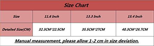 YiJee Sleeve Hülle Notebooktasche Schutzhülle Laptop Tasche für Macbook Air/ Pro 15.4 Zoll Schwarz