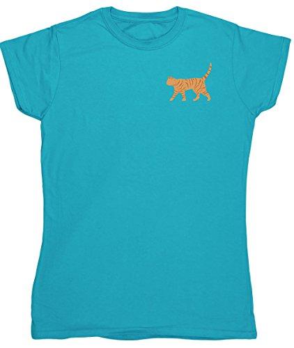 Hippowarehouse Damen T-Shirt Saphirblau