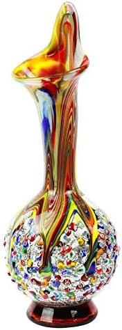 YourMurano Vaso in vetro di Murano tradizionale, Made in Italy, vetro soffiato, design moderno, realizzato a m