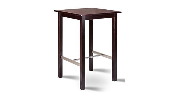 Tavolo Alto Per Cucina : Vidaxl tavolo da bar in mdf e legno pino nero tavolino alto casa