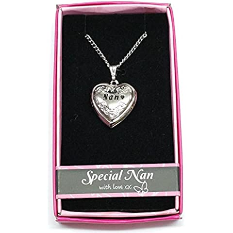 Nan Love Locket Gift Boxed Pendant, Birthday, Christmas, Any Occasion Gift by Gifts For Her