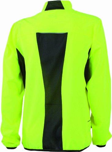 &james nicholson veste de course pour femme Jaune (fluoyellow/black)