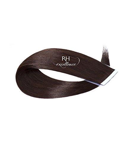 Extension bande adhésive - Extension de cheveux Chatain Foncé - 35/40 cm