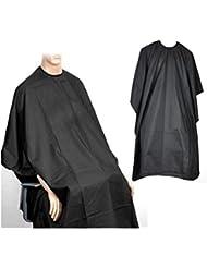 TRIXES Blouse de salon de coiffure noire pour coupes, couleurs et mèches