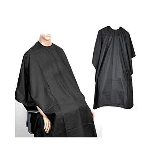 Capa de peluquera negra para adultos; saln de belleza; corte; tinte; mechas by RIVENBERT