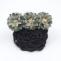HellO X Haarspange mit Schleife, Gänseblümchen-Design, Haarspange für Dutt/Blume, Haarnadel/Schleife / Krankenschwester, grün, 10 cm