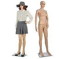 Shoze 175CM/68.8IN Full Body Mannequin Female Manikin Shop Window Display Dummy Retail Dressmaker Lady