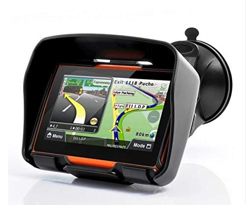 Elebest Rider W4 Navigationsgerät - Motorrad Auto LKW, 4,3 Zoll Display, Halterung, Bluetooth, Freisprecheinrichtung, Fahrspurassistent, Lebenslang Kostenlose Kartenupdate, Radarwarner, Wasserdicht