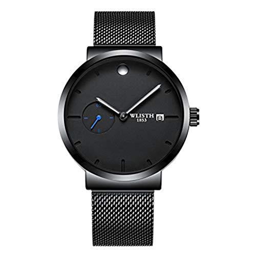 Hermosos Relojes mecánicos wlisth Watch Men 's Mesh Belt Cuarzo Reloj de Hombre