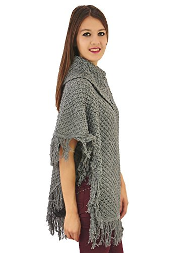 Poncho Maille Gris Gris