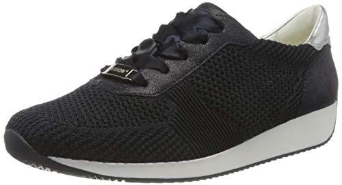 ara Damen LISSABON Sneaker, (Blau, Silber 47), 40 EU