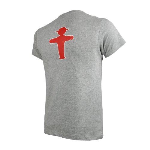 T-Shirt Prachtkerl grau meliert Geher vorne Material: 85 % gekämmte Baumwolle, 15 % Viscose Grau