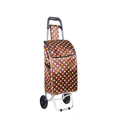 hzzymj-aluminum Auto Warenkorb zu kaufen ein Auto Tragbar Hebel Bar Gepäck Trailer klein Pull Cart, Kaffee