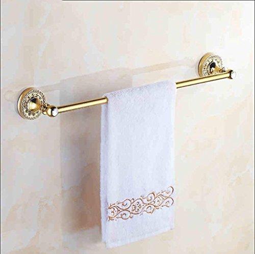NAERFB Badezimmer Regal europäischen Vergoldete 1-polige Handtuchhalter Handtuchhalter aus Kupfer Gold Antik Bad Anhänger Metall Diamond Serie (Casting Serie Rod)
