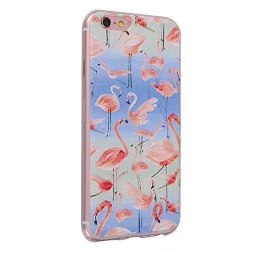 Hülle iPhone 6 Plus Silikon Weich TPU Zurück Schutzhülle Bumper Flamingo Schale Stoßstange Tasche Halter Handyhülle Handytasche Abdeckung Zurück Schutzhülle Haut Fall Mirror Effect Case Soft TPU Anti- color-5