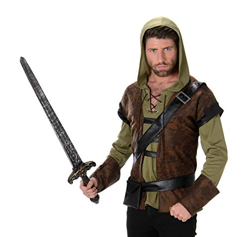 Karnival Costumes  - Robin Hood Waldjäger Kostüm für Herren Taille (Men's World Book Day Kostüm)