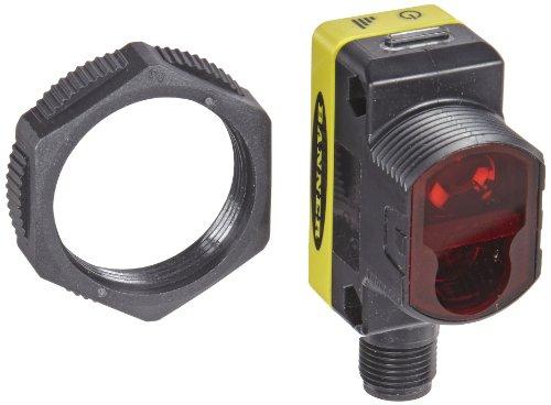 Banner QS30FF400Q Welt Beam Universal Sensor, fixed-field background-suppression Sensing Modus, 5-pin euro-style Steckverbinder mit, sichtbar Rot LED, 10-30VDC, bipolar (PNP- und NPN) Ausgang, 400mm Sensing Reichweite