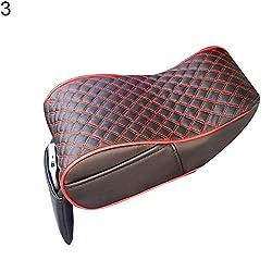 YSHtanj Car Armrest Box Pad CarSeatsAccessoires Cushion Stylish Car Central Console Armrest Box Soft Heighten Pad Cushion with Pocket - 3