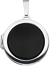Medaillon 925 Sterling Silber 1 Onyx