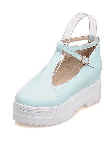 WSS 2016 Chaussures Femme-Bureau & Travail / Décontracté-Bleu / Rose / Beige-Talon Bas-Confort / Bout Arrondi-Chaussures à Talons-Polyuréthane blue-us8 / eu39 / uk6 / cn39