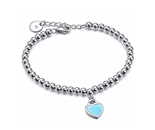 round-pearls-bracelet-4-mm-x153-heart-pendant-plated-925-sterling-silver-emaile-turquoise