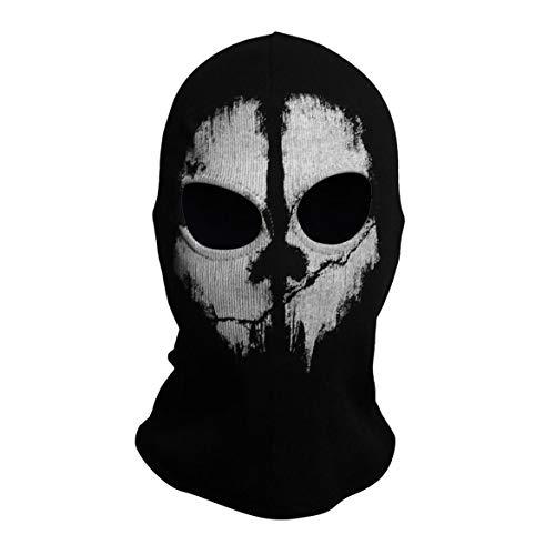 JohnJohnsen Ghost Skull Vollgesichtsmasken Punisher Mask Skeleton Hats (schwarz)