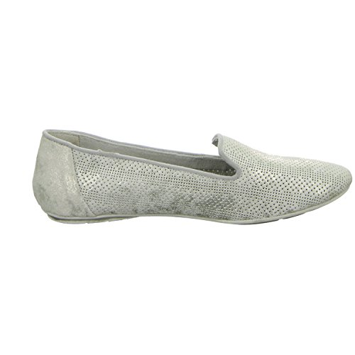 BOXX WS-071R01 Damen Slipper Halbschuh eleganter Boden Grau (Grau)