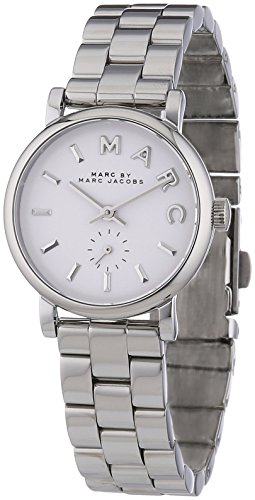 Marc by Marc Jacobs Women's Analogue Watch with White Dial Analogue Display and Stainless steel plated gun metal - MBM3246
