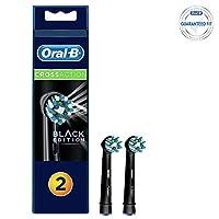 Oral-B Diş Fırçası Yedek Başlığı Cross Action Siyah 2 Adet, Siyah