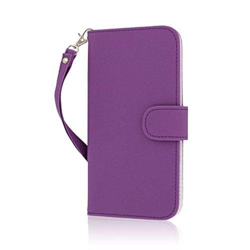 MPERO FLEX FLIP Wallet Case Hülle Tasche für Apple iPhone 6 Plus - Schwarz Lace violett
