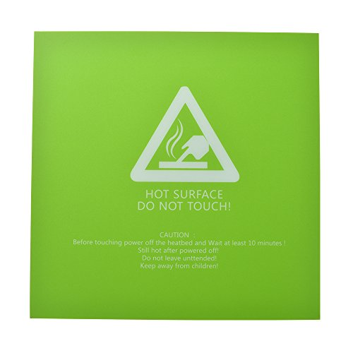 Kreema 220x220mm 3D Drucker Hotbed Build Platte Oberfläche Aufkleber Beheizte Bettdecke Abdeckung Grün - Grüne Bettdecken