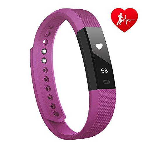 Lintelek Fitness Tracker Fitness Uhr mit herzfrequenz Fitness Armband Step Kalorie Aktivitätstracker Schrittzähler SMS Anrufe MEHRWEG