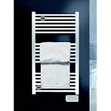 KOH-I-NOOR 44010B - Radiador, calienta toallas y secador de ropa con posición fija UNO Eléctrico. 770x500mm - Acabado blanco.