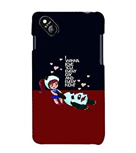 PrintVisa Stylish Cool Girl Quotes 3D Hard Polycarbonate Designer Back Case Cover for Micromax Bolt D303