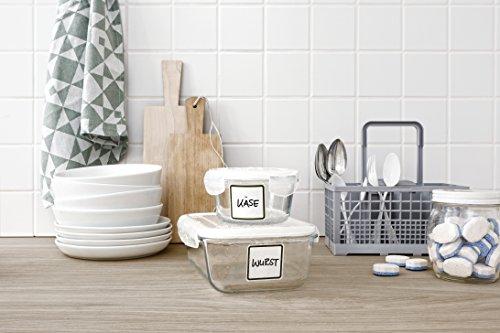 Avery Zweckform 62004 - Etiquetas prerecortadas (47,5 x 48,5 mm, aptas para lavavajillas y microondas), color blanco