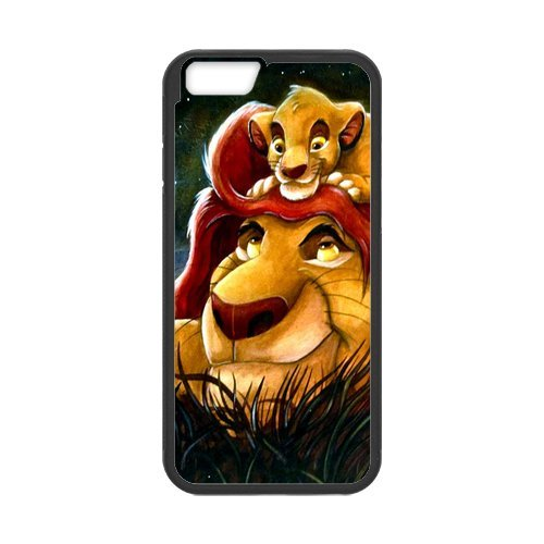 Everlasting Fashion Hard Cover Case PC and TPU Phone Cover For Your Iphone 6 of the Lion King