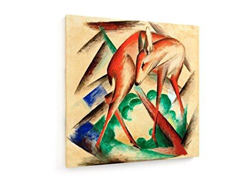 franz-marc-ciervo-rojo-pintura-1912-1913-100x100-cm-weewado-impresiones-sobre-lienzo-muro-de-arte