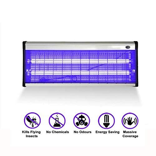 Electric Repeller Control-Stärkste 2800-V-Uv-Lampe für Den Innenbereich Fliegen Fliegen Insektenvernichter Mücken Fliegen Insektenvernichter Abwehrfallen Eliminator Tötet Mücken, 40W, BOSS LV -