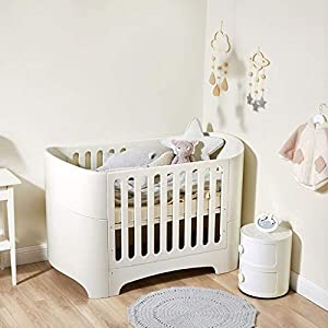 DUWEN-Cot bed Solid Wood Multifunction European Baby Cot Toddler Bed Sofa Bed Game Bed Children's Bed (color : White)   3