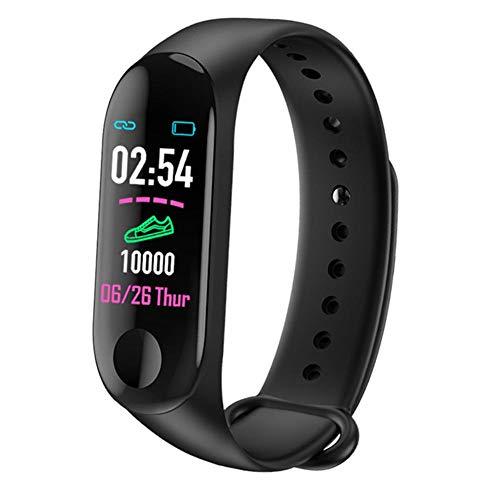 Inseguitore di Fitness Impermeabile Tracker attività Schermo a Colori con Monitor per la misurazione della Pressione arteriosa della frequenza cardiaca, Orologio da Polso a Bracciale Smart Smart
