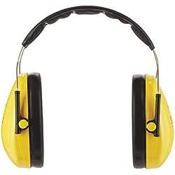 3M Peltor Optime I - Orejeras de protección - protectores auditivos de hasta 98 dB - cascos protectores ligeros y ajustable para el uso de herramientas eléctricas - color amarillo