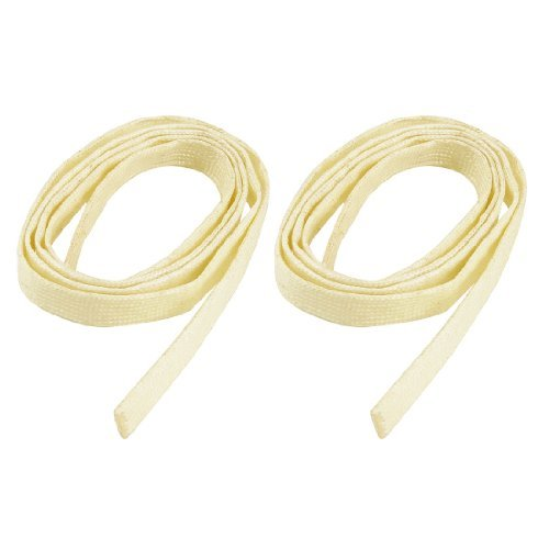 Water & Wood 2 Pcs 92cm Long 4mm Dia PVC Fiberglass Insulating Sleeving Sleeve Pipe Beige