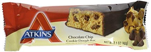 Atkins, Advantage, Chocolate Chip Cookie Dough Bar, 5 Bars, 2,1 Unzen (60 g) Jeder -