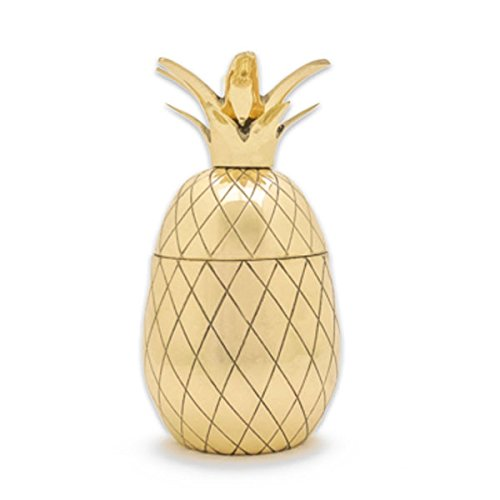 W&P Design - Ananas Cocktailbecher, Ananas Dose - Pineapple Tumbler - 350 ml - Farbe: Gold
