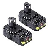 2X 2500mAh Batterie de remplacement Ryobi 18V Lithium Ion Batterie P102 P104 P105...