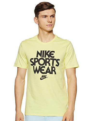 Nike Men's Printed Regular fit T-Shirt (911961-735_Ltztrn/Black_Large)