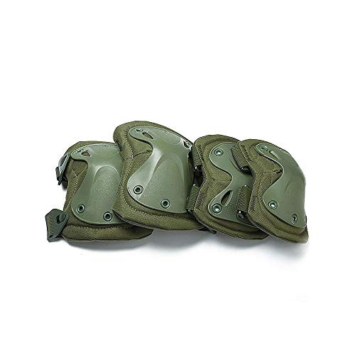 SHALU Combat Hard X Knieschoner Ellbogenschoner Taktischer Schutz SportschutzmatteGrün