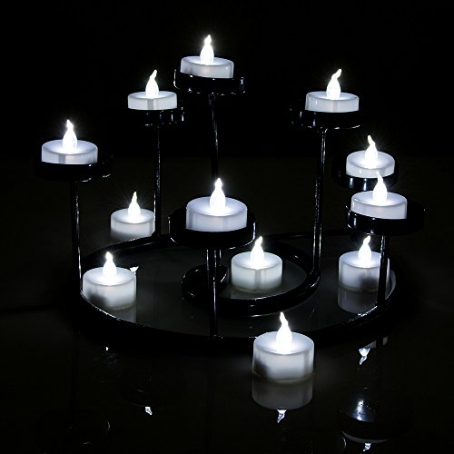 AGPtek Lot 24 LED Velas Operadas por Pila Luz de Té Blanca fría Luz Tintinea